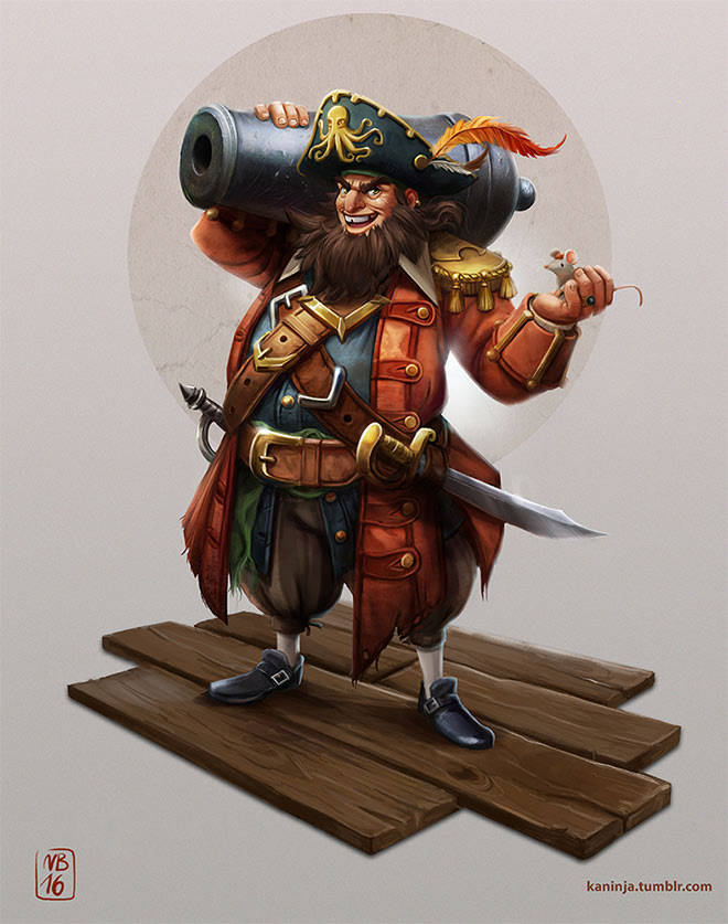 Pirate Dad Character Design by Natalie Behle