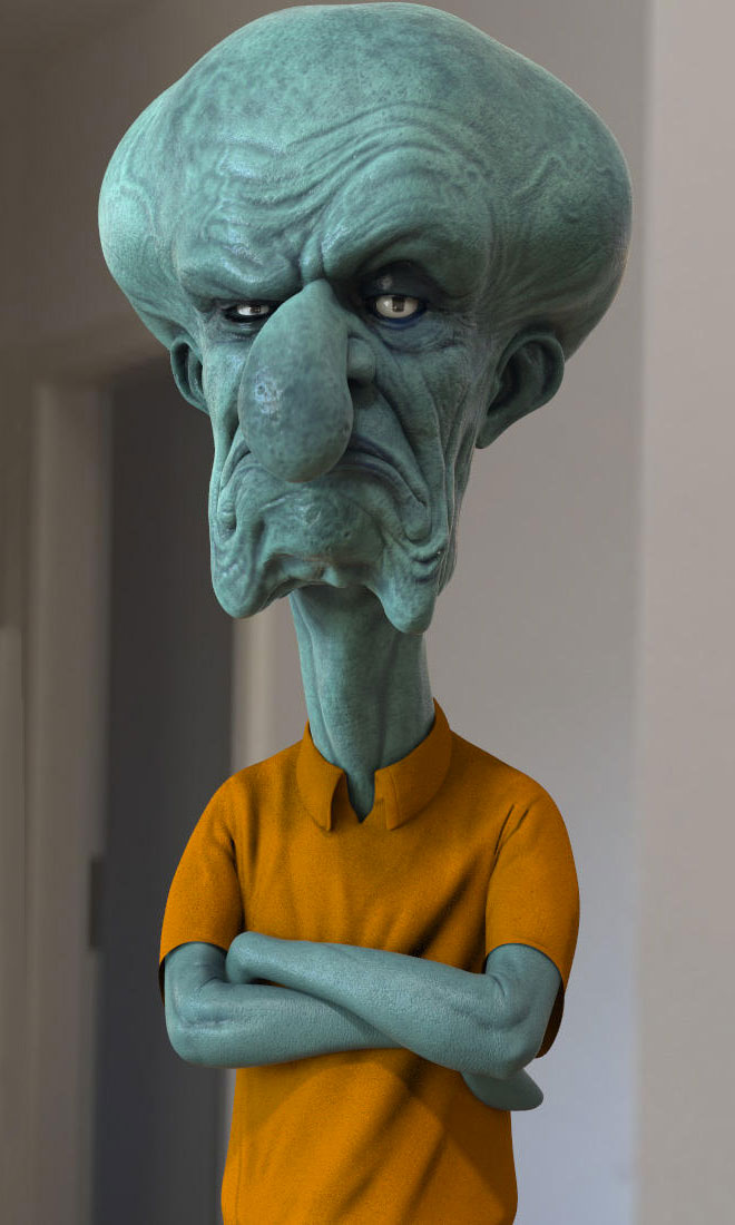 Squidward Tentacles by Habibity Nickerson