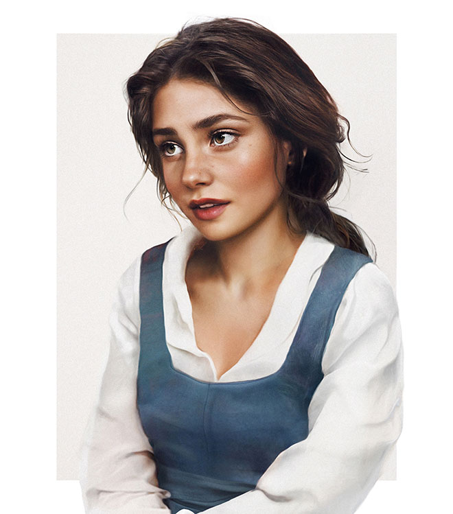 Belle from Beauty and the Beast by Jirka Vaatainen