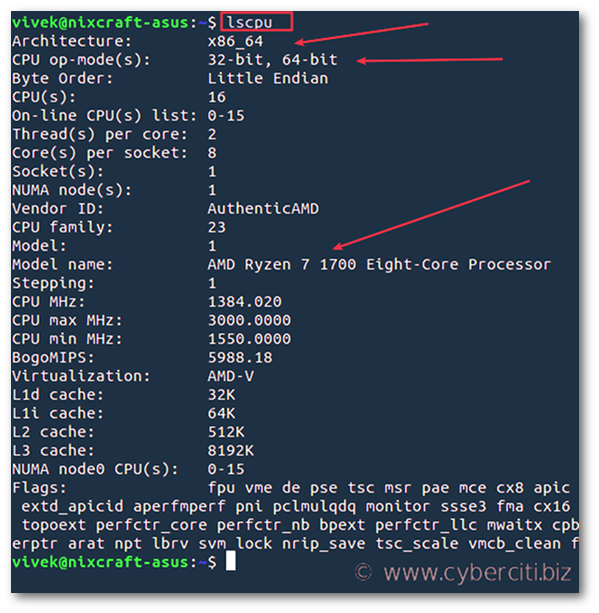How to Find if Linux is Running on 32-bit or 64-bit