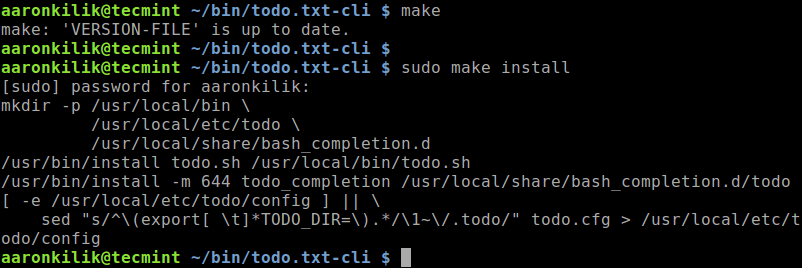 Install Todo.txt CLI in Linux