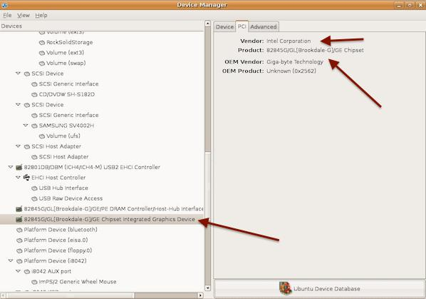 Fig.02 Linux Hardware Information GUI Tool To Find Out Graphics Card