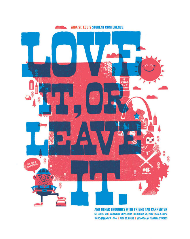 AIGA St Louis Conference Poster by Tad Carpenter