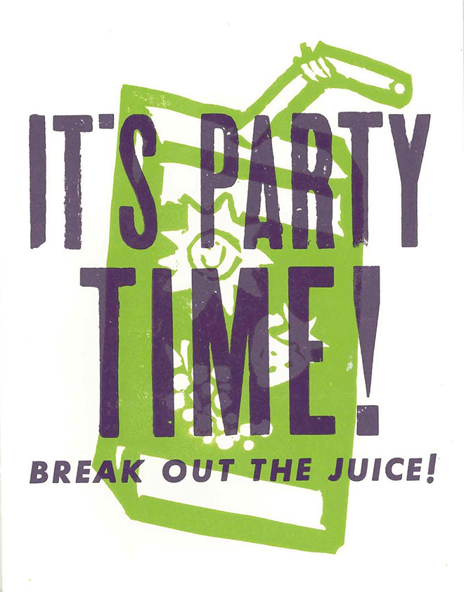 It's Party Time Card by Hatch Show Print