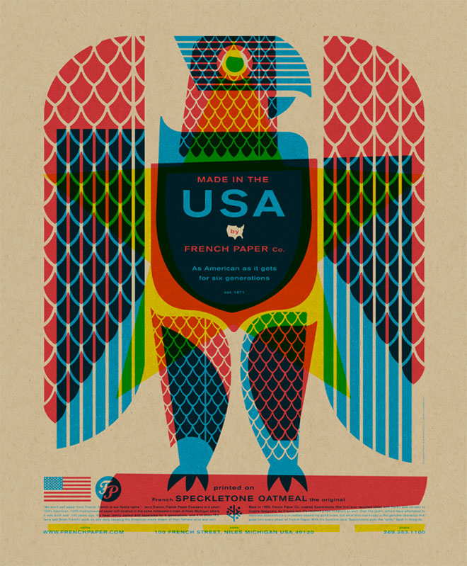 Eagle Posters by Charles S. Anderson Design Co.