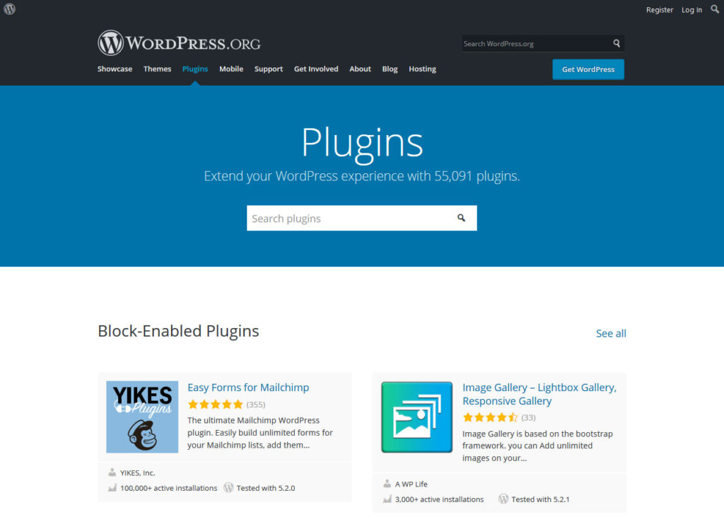 wordpress plugin directory offers many options for startups