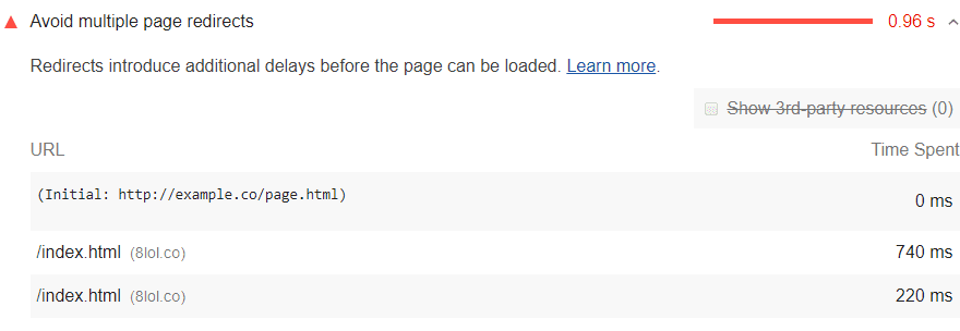 Avoid having multiple page redirects