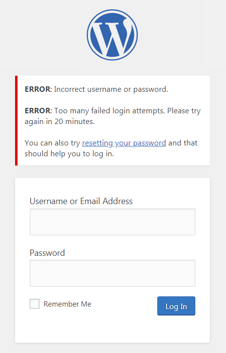 limit login attempts in wordpress to deny brute force attacks