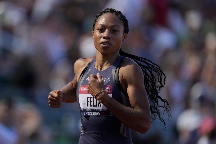 Allyson Felix in the U.S. Olympic Track and Field Trials