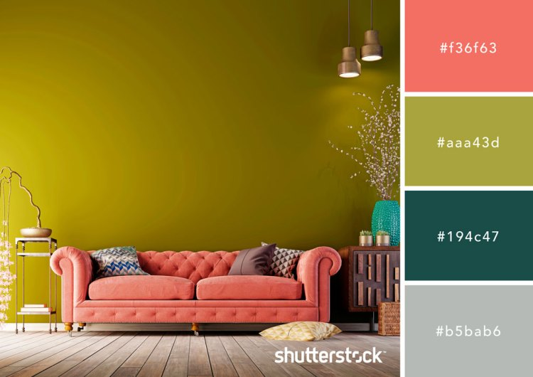 Green and Coral Color Palette
